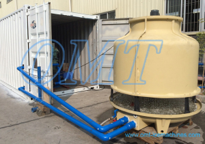 cooling tower with ice block machine